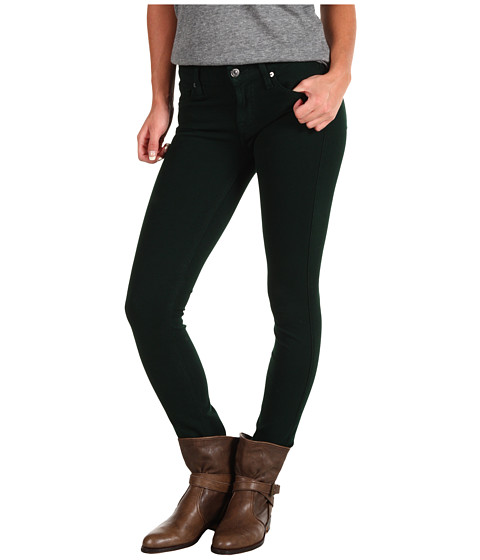 Pantaloni 7 For All Mankind - The Skinny w/ Contoured Waistband Double Knit - Deep Green