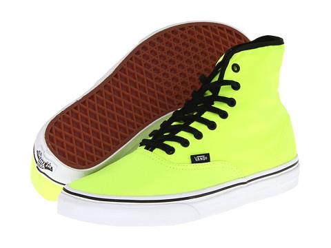 Adidasi Vans - Authentic Hi - Neon Yellow