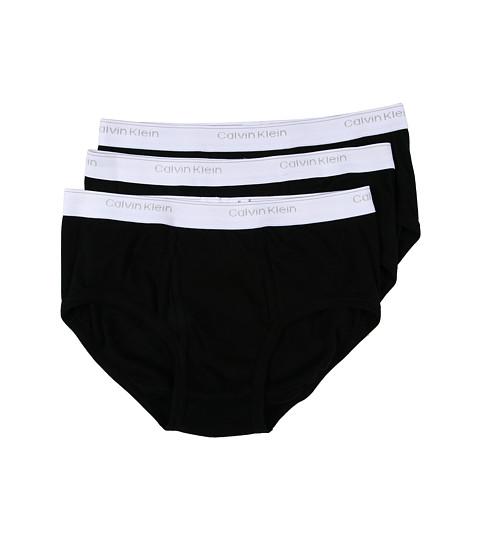 Lenjerie Calvin Klein - Classics Brief Three-Pack U1000 - Black
