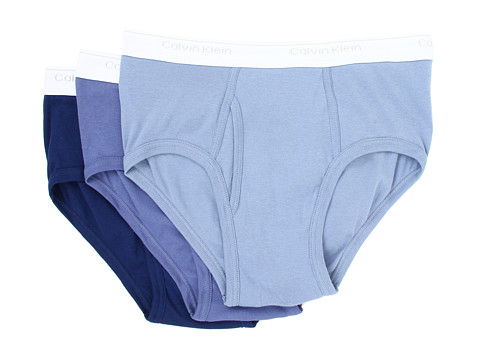 Lenjerie Calvin Klein - Classics Brief Three-Pack U1000 - Blue Depths/Water Reflection/Boardwalk Blue