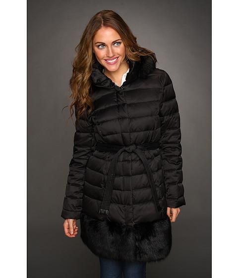 Jachete Hilary Radley Studio - Down Coat w/ Faux Fur Trim Hood & Hem - Black