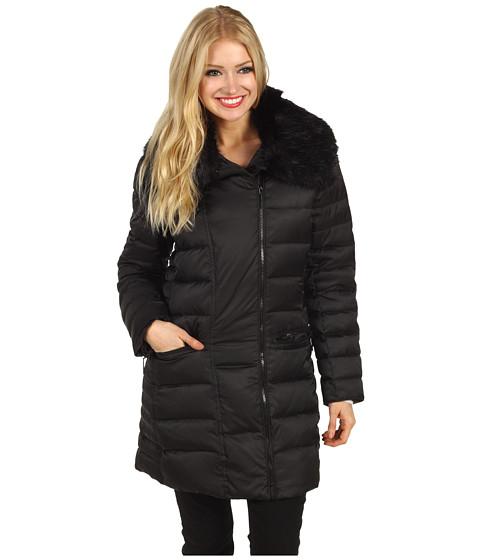 Jachete Hilary Radley Studio - Faux Fur Trim Collar Down Coat - Black