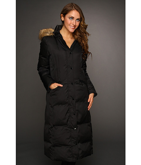 Jachete Hilary Radley Studio - Long Down w/ Faux Fur Trim Hood - Black