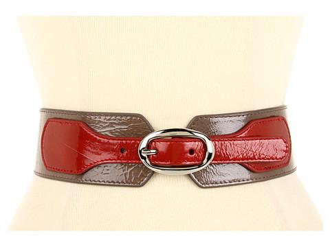 Curele Lodis Accessories - Mulholland Color Block Elastic Belt - Cinnamon