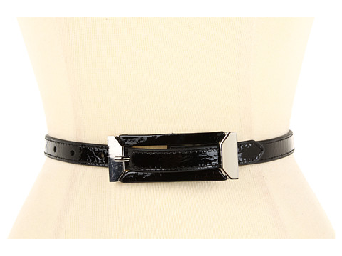 Curele Lodis Accessories - Mulholland Skinny Inset Buckle Pant Belt - Coal