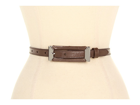 Curele Lodis Accessories - Mulholland Skinny Inset Buckle Pant Belt - Truffle