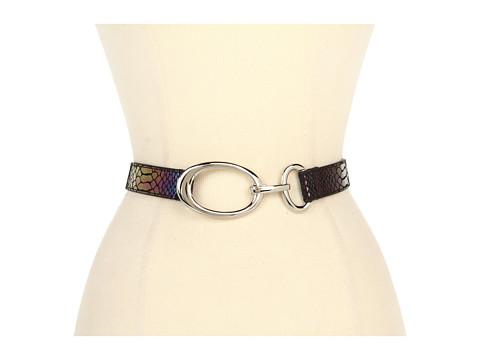 Curele Lodis Accessories - Palm Springs Adjustable Oval Hook Belt - Peacock