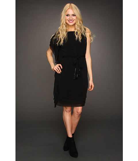 Rochii Vince Camuto - Asymmetrical Box Layered Dress VC2A1764 - Black