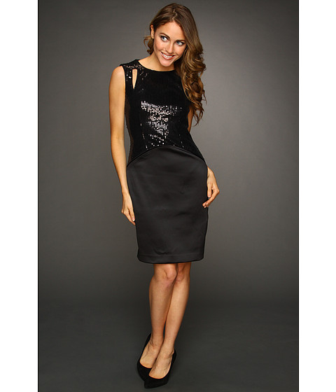 Rochii Vince Camuto - Sequin Cutout Dress VC2X1864 - Black
