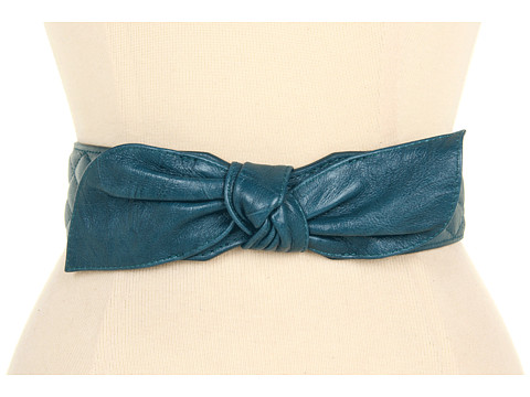 Curele Lodis Accessories - Abbot Kinney Quilted Bow High Waist Belt - Peacock