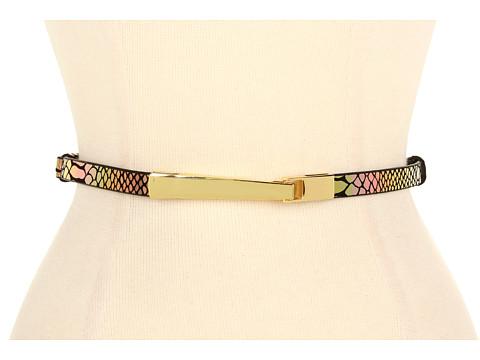 Curele Lodis Accessories - Palm Springs Adjustable Elongated Hook Closer Belt - Candlelight