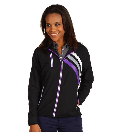 Bluze adidas Golf - Fashion Performance 3-Stripes Wind Jacket - Black/Zone/Purple