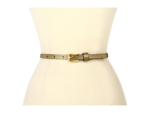 "Curele Calvin Klein - Calvin Klein 1/2\"" Roller Buckle Crackle With Logo Rivet Under Tab - Gold"