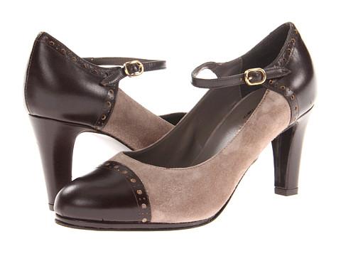 Pantofi Sesto Meucci - Mabli - Taupe Molly Suede/TMoro Calf