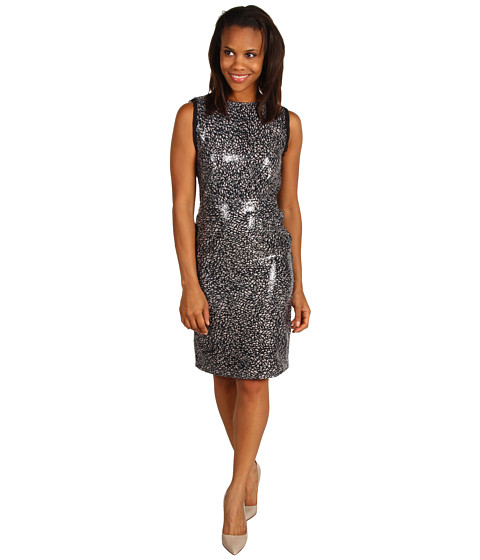Rochii Kenneth Cole New York - Abstract Lace Sequin Dress - Lilac Mist Combo