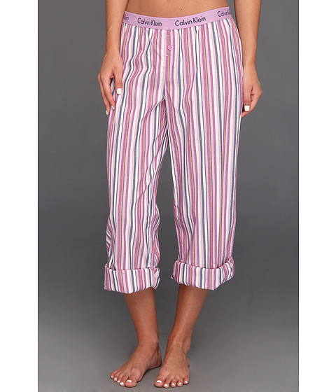 Rochii Calvin Klein - Wovens Roll-Up Pant w/ Repeat Logo - Desert Oasis Stripe