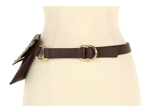 Curele Michael Kors - Whip Stitched Chain Belt Bag - Chocolate