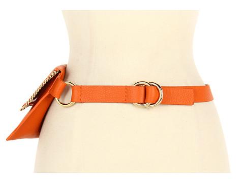 Curele Michael Kors - Whip Stitched Chain Belt Bag - Orange