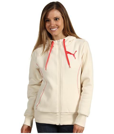 Bluze PUMA - Sherpa Lined Zip Hoodie - Whisper White