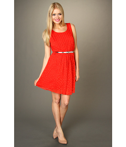 Rochii Max and Cleo - Joy Belted Textured Dress - Poppy