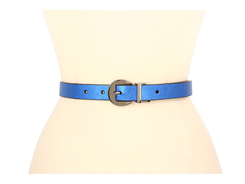 "Curele Jessica Simpson - 7/8"" Reversible Metallic to Black - Blue"