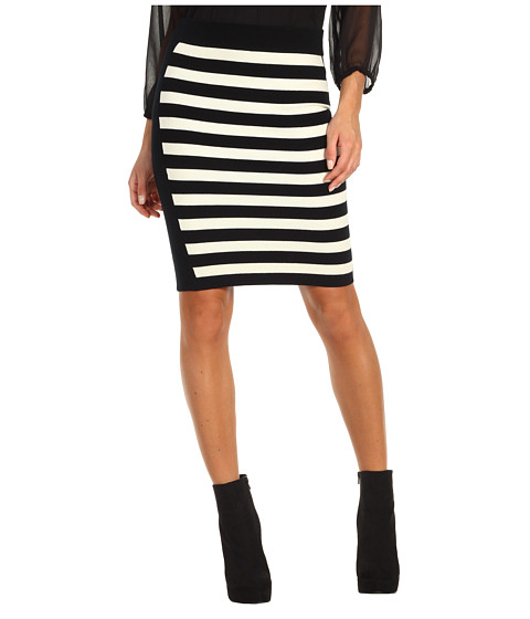 Fuste Juicy Couture - Mercerized Merino Stripe Skirt - Black/Angel