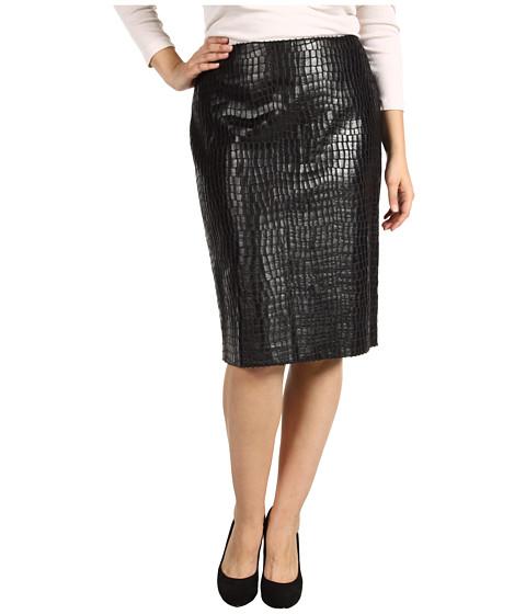 Fuste Anne Klein - Plus Size Alligator Straight Skirt - Black