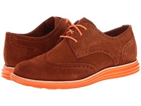 Pantofi Cole Haan - LunarGrand Wing Tip - Sequoia/Orange