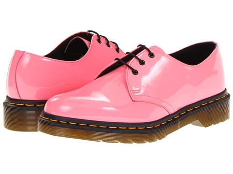 Pantofi Dr. Martens - 1461 3-Eye Gibson - Acid Pink Patent Lamper