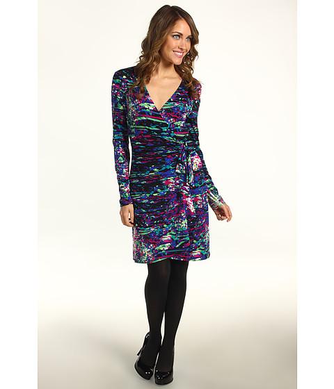 Rochii BCBGMAXAZRIA - Petite Adele Print Dress - Blue Saphire Combo