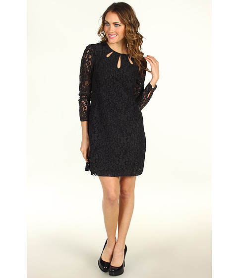 Rochii Juicy Couture - Contrast Lace Dress - Black/ Black Lining