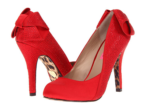 Pantofi Betsey Johnson - Carolina - Red Satin