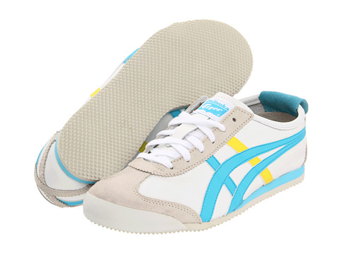 Adidasi Onitsuka Tiger by Asics - Mexico 66® - White/Sky Blue/Yellow