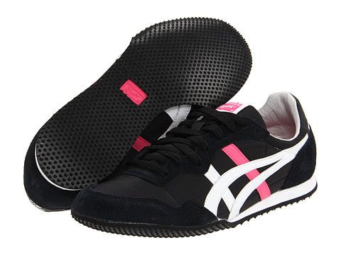 "Adidasi Onitsuka Tiger by Asics - Serranoâ""¢ - Black/White/Hot Pink"