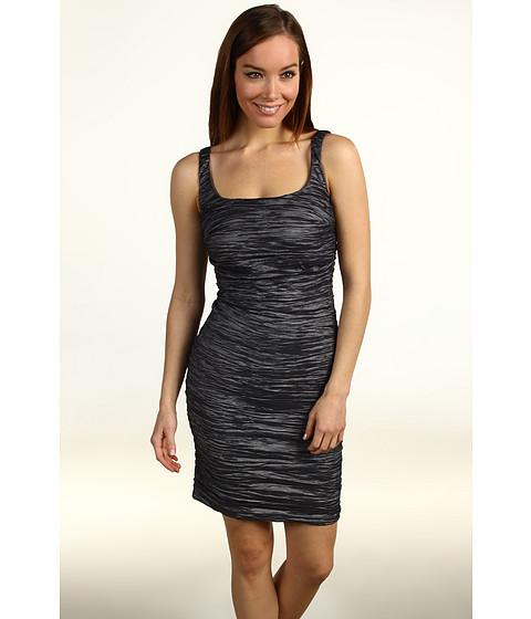 Rochii Nicole Miller - Metallic Crinkle Tank Tucked Dress - Steel