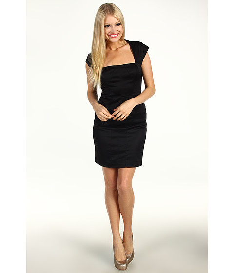 Rochii Nicole Miller - Square Neck Sheath Dress - Black