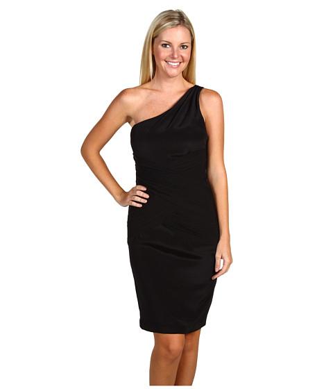 Rochii Nicole Miller - Stretch CDC and GGT One Shoulder Dress - Black