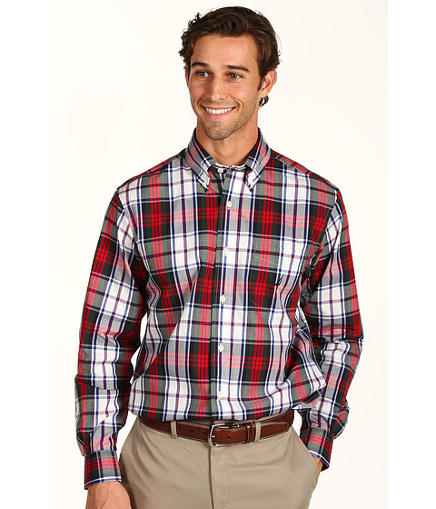 Bluze Nautica - L/S Poplin Plaid Shirt - Nautica Red
