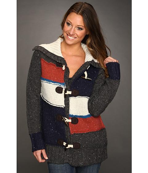 Bluze Quiksilver - Brownstone Sweater Jacket - Charcoal Heather Grey