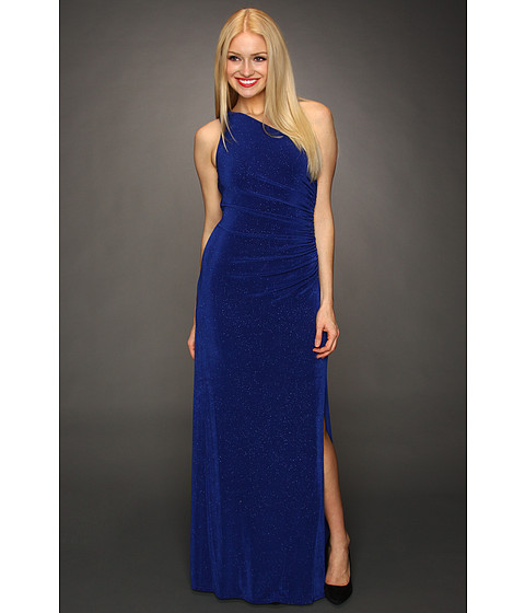 Rochii Laundry by Shelli Segal - Giltzy Knit One Shoulder Gown - Sapphire
