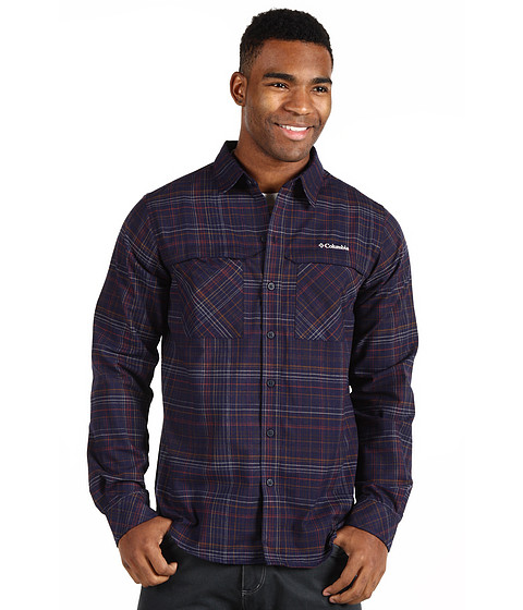 Bluze Columbia - Cool Creekâ⢠Plaid L/S Shirt - Ebony Blue