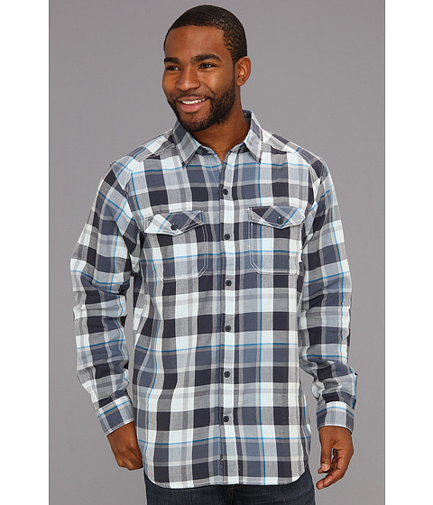 "Camasi Columbia - Double Crownâ""¢ L/S Shirt - Sea Salt Plaid/India Ink"