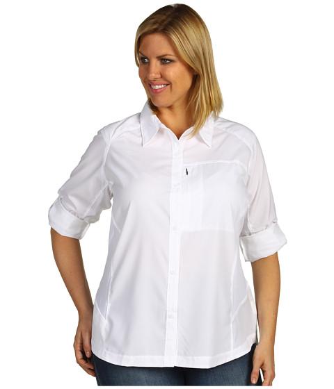Bluze Columbia - Plus Size Silver Ridgeâ⢠L/S Shirt - White