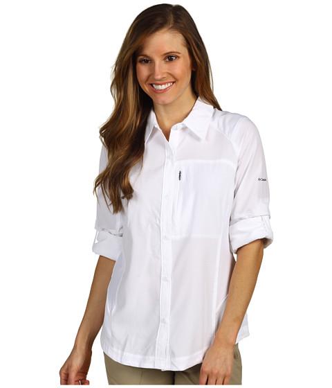"Camasi Columbia - Silver Ridgeâ""¢ L/S Shirt - White"