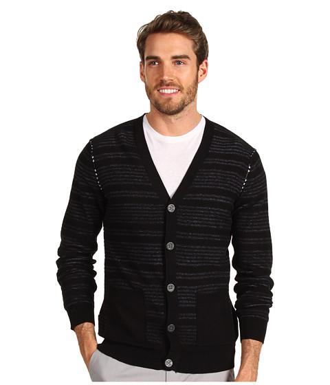 Pulovere Calvin Klein Jeans - Reverse Stripe Cardigan - Black