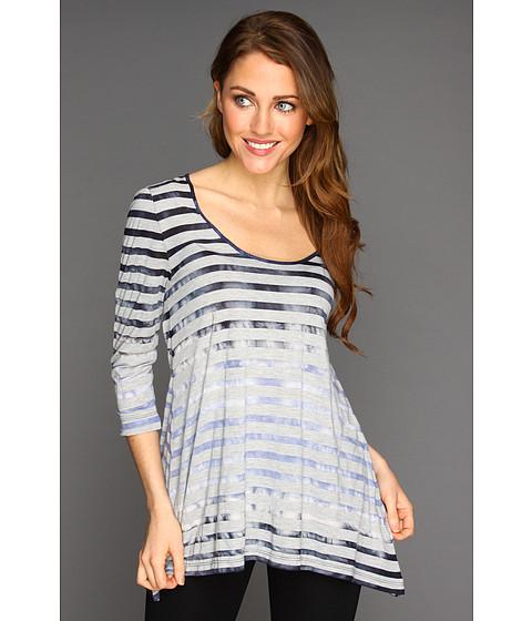Tricouri Calvin Klein Jeans - Shadow Stripe Tie Dye Pullover - Blue Ice