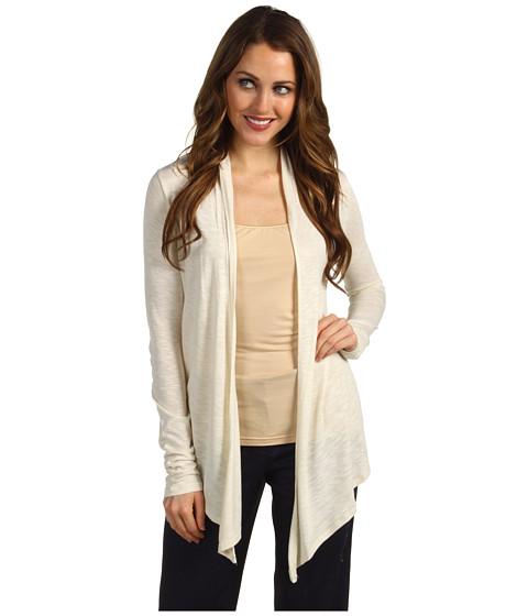 Tricouri Calvin Klein Jeans - Rouched Back Open Knit Cardi - Soft Parchment