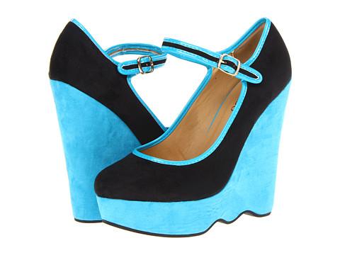 Pantofi 2 Lips Too - Too Sway - Black/Turquoise