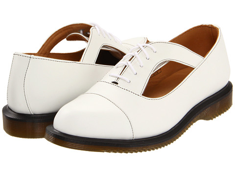 Balerini Dr. Martens - Carrigan Cut-Out Shoe - White Smooth