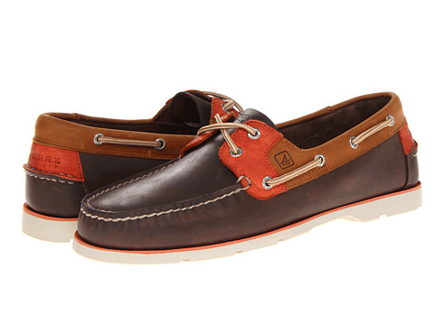 Pantofi Sperry Top-Sider - Leeward 2-Eye - Dark Brown/Tan/Orange